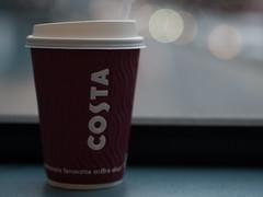 coffee time (Cosimo Matteini) Tags: light costa bus london cup coffee pen unitedkingdom bokeh olympus m43 mft ep5 cosimomatteini mzuiko45mmf18