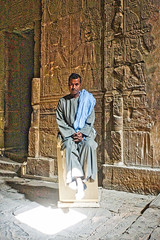 Portrait - Temple of Horus Guard (BlueVoter - thanks for 1.3M views) Tags: temple guard egypt horus egipto aegypten edful