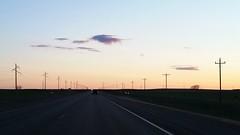 On the Highway (Elizabeth Almlie) Tags: sunset clouds southdakota highway powerlines highway14