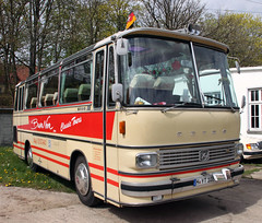 Setra Coach (The Rubberbandman) Tags: city school red bus public museum club germany coach outdoor tram hannover creme german transportation hanover fahrzeug vanhool citybus setra s100 neoplan hsm kssbohrer sehnde wehmingen clubbus