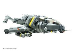 SIDE VIEW: WZ-13 Wespe Zorn Hornet (Benjamin Cheh) Tags: airplane design lego gunship moc