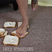 Jane Crushes Bread with her Butt & Feet & Offers Them to You