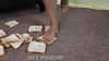 Jane Crushes Bread with her Butt & Feet & Offers Them to You (Fanta_Productions) Tags: feet crushing crush footfetish pinktoenails femalefeet foodcrushing crushingfood crushingfetish barefootcrushing crushingbread