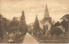 Stoke Poges Church- 1912 (912greens) Tags: england cemeteries poetry spires buckinghamshire gray churches graves tombstones steeples churchyards poets elegy stokepoges