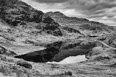 Loch Restil (AdamMatheson) Tags: blackandwhite bw mountain mountains reflection water monochrome canon reflections landscape mono scotland blackwhite nationalpark scenery scottish scene 7d loch restandbethankful lochlomondnationalpark a83 scottishlandscape argyllbute glencroe canonef24105mmf4lisusm canon24105l scottishmountain scottishwater canonef24105f4lisusm restil canoneos7d canon7d canoneos24105f4lisusm adammatheson adammathesonphotography