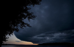Clarence-Rockland (Phil Grondin) Tags: blue sunset summer sky ontario black tree clouds river soleil nikon noir ottawa coucher rivire bleu ciel sombre t nuages arbre rockland outaouais