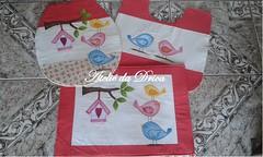 Jogo de Banheiro Passarinhos (Ateli da Drica) Tags: patchwork aplicao passarinhos jogodebanheiro patchapliqu