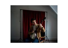 Ben McManus (Rhodri Brooks) Tags: portrait music photography folk banjo velvet oldtime windowlight