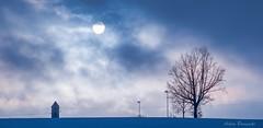 Sunset blue ... (acbrennecke) Tags: blue sunset sky snow tree silhouette clouds nikon nikon5500 achimbrennecke taufachfetzachmoos