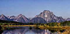 Moran Glory Panorama - Painting (Paddrick) Tags: panorama reflection art digital painting grand grandtetons teton moran paddrick paintograph