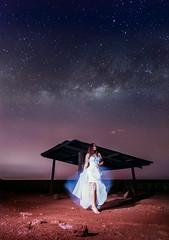 Graces (bdrc) Tags: portrait field night digital stars model long exposure estate outdoor sony flash astro tokina shack ultrawide f28 pauline johor blending milkyway simpang 1116mm a6000 renggam asdgraphy