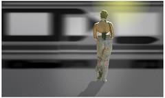 Girl on Platform by howard kendall (howardkendall42) Tags: light waiting platform googleimages goingby howardkendall42 girlonplatform