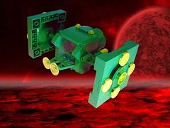 Biotron - Lil' ship (Crimso Giger) Tags: ship lego space moc biotron