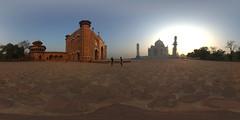 Taj Mahal Panorama (jeglikerikkefisk) Tags: panorama india pano tajmahal agra sonnenaufgang morgen indien 360 sphericalpanorama uttarpradesh equirectangular kugelpanorama sphrischespanorama
