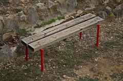 Four red (Santini1972) Tags: wood red mountain texture textura bench four cuatro madera banco montaa nikond5100