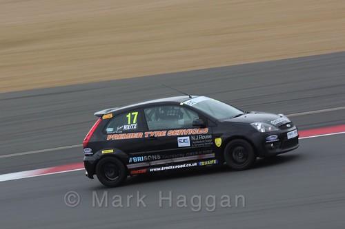 James Waite in the BRSCC Fiesta Junior Championship at Silverstone, April 2016