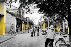 Only the imperial Colour stands out (Melvin Yue) Tags: street city travel vacation people bw holiday colors monochrome 35mm blackwhite asia vietnamese cityscape colours streetphotography tourist wanderlust traveller vietnam explore fujifilm lonelyplanet blacknwhite bnw photooftheday picoftheday natgeo travelphotography travelgram x100s