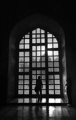 Silhouette on Mosque (**James Lee**) Tags: bw reflection silhouette mono mosque peopke