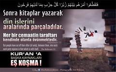 Kerim Kuran - Muminun 53. (Oku Rabbinin Adiyla) Tags: muslim islam religion bible rahman allah verse gof kuran ayet
