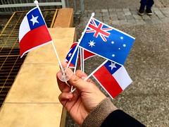 Banderitas: Chile, Australia (Sept 2015) (RiveraNotario) Tags: chile santiago flags septiembre banderas banderita