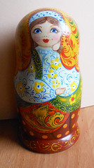 Nesting dolls (matryoshka) in style khokhloma Russian handmade (Artworkshop1) Tags: handmade babushka matryoshka khokhloma