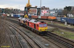Southampton    60024 + 66056 (davidhann34016) Tags: southampton millbrook dbs class66 class60 60024 66056 dbschenker 0v41