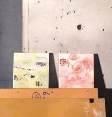 4 paintings at mapa (mayakonakamura) Tags: abstract tokyo canvas kobe watercolour mapa goldleaf nakamura sannomiya washi mayako silverleaf aluminumleaf mayakonakamura tamamushileaf nashiowashi