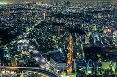 (Arutemu) Tags: city urban panorama japan night canon asian japanese tokyo asia cityscape view nightscape nightshot ciudad panoramic nighttime citylights vista ikebukuro  metropolis  nightview  japonesa japon japones birdseyeview ville  japonais    japonaise