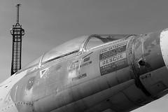 F-104 Starfighter and Eiffel (marius bekker) Tags: f104 eiffel blackwhite f104starfighter sicily italianairforce monochrome