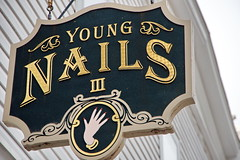 Young Nails III  - Nail Salon (KHT Nail) (George - with over 2 mil views - THANKS) Tags: winter usa sign us newjersey symbol unitedstatesofamerica january signage northamerica northeast smalltown pennington advertise smallbusiness acdseepro middleatlantic northeasternunitedstates photogeorge nikond750