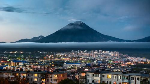 Dusk over Kamchatka ©  kuhnmi