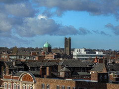 Rooftops (Jymothy) Tags: city people st town lancashire helens merseyside