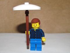 LEGO Minifigure Holding Umbrella (Pest15) Tags: umbrella lego parasol shade canopy protection legominifigure nationalumbrelladay