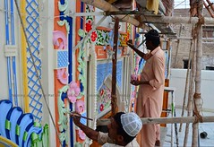 Painting masjid, Matiari, Sindh (Ameer Hamza) Tags: pakistan ppa pakistaniphotographer matiari ameerhamzaadhia pakistanitraveller ameerhamzaphotography