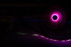 Pinwheel (~138~) Tags: park longexposure light 6 canada lightpainting abstract color colour art colors lines night circle lights cool colours bc purple britishcolumbia awesome curves funky victoria vancouverisland skate paintingwithlight pacificnorthwest trippy mile vanisle