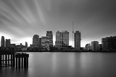 Bright Light City (TS446Photo) Tags: world city longexposure light reflection building london art water thames night clouds skyscraper 35mm river landscape nikon day pattern cityscape district sigma wharf canary canarywharf financial hsbc d600 10stop 6stop nikoneurope ts446 sigmaart