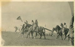 Nez Perce Tribal Member, circa 1910 - DeSmet, Idaho (Shook Photos) Tags: horses horse postcard indian americanflag idaho nativeamerican postcards desmet tribe horseshow nativeamericans equine nezperce warbonnet falg rppc realphotopostcard realphotopostcards benewahcounty desmetidaho desmetmission