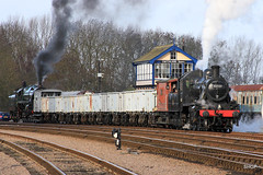 IMG_1480 (harrison-green) Tags: park winter black station train star evening hall track branch britain 5 great central engine railway keith battle class steam western locomotive uboat sir 777 gala swithland rothley 2016 gcr 4p sidings 8f 9f 2mt witherslack montsorrel