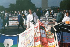 13.AIDSQuilt.WDC.11October1996 (Elvert Barnes) Tags: 1996 nationalmall dc thenamesproject october1996 aids namesprojectaidsmemorialquiltdisplay october1996namesprojectaidsmemorialquiltdisplay aidsquilt 11october1996 friday11october1996namesprojectaidsmemorialquiltdisplaywashingtondc washingtondc
