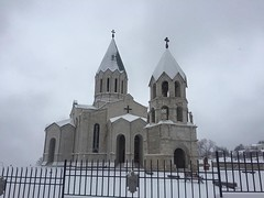 Ghazanchetsost Cathedral (Alexanyan) Tags: winter snow church christ cathedral kirche christian holy chiesa nagornokarabakh armenia orthodox eglise shushi savior armenian ghazanchetsots surb