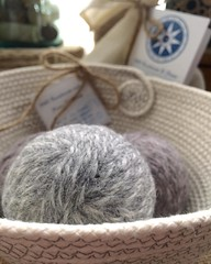 "Guess what I am working on this afternoon?  #1840farm #fiber #wool #felt #dryerball #handmade #etsy #etsyshop • <a style=""font-size:0.8em;"" href=""http://www.flickr.com/photos/54958436@N05/24618981242/"" target=""_blank"">View on Flickr</a>"