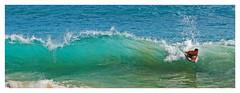 """Catching One"" - Big Beach (Oneloa Beach), Maui (TravelsWithDan) Tags: ocean water hawaii aqua surf candid wave maui boogieboard bigbeach"