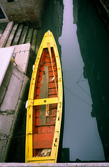 """""""Subtle"""" Boat (cristian_mnt94) Tags: street venice red urban reflection yellow boat canal sony venezia a6000"""
