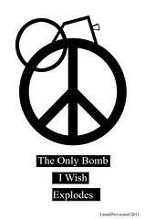 The Only Bomb I Wish Explodes (Lionell Novocain) Tags: world life family people art collage photoshop happy freedom nice blood war peace brother victim fear political moda guerra paz human terrorism pace bomb mode guerre mundo prolife nowar paix mondo nofear noterrorism