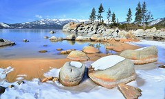 Winter Tahoe (Wandering Coda) Tags: winter snow beach laketahoe sandharbor