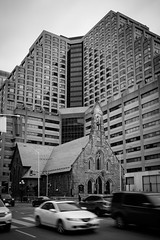 Defiance (Bert CR) Tags: street city blackandwhite bw toronto church architecture blackwhite faith gothic citylife streetphotography modernism calm anglican redeemer dwarfed refuge defiance overwhelmed hardtimes redeemed gothicrevivalstyle skancheli