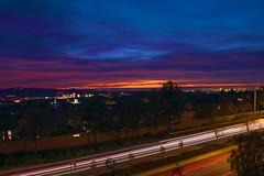 Lights Out Irvine (Oh Sheri) Tags: california longexposure nightphotography sunset socal lighttrails laruecherie