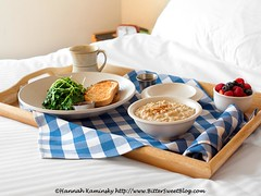 The Full Spread of Breakfast in Bed (Bitter-Sweet-) Tags: morning travel food coffee fruit breakfast burlington restaurant hotel vegan healthy vermont berries sweet cinnamon toast fresh oatmeal greens dining oats luxury savory juniper steelcut breakfastinbed almondmilk hotelvermont