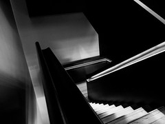 ** (donvucl) Tags: blackandwhite stairs composition interior staircase lightandshade semiabstract donvucl olympusem1