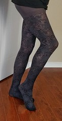 Grey tights (doverlt) Tags: feet legs tights crossdress greytights fashiontights
